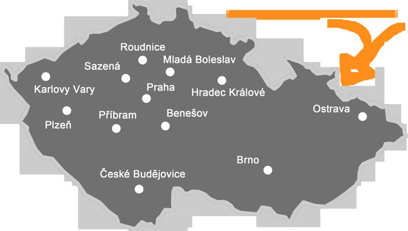 Mapa letišť odkud létáme akci Pilotem na zkoušku