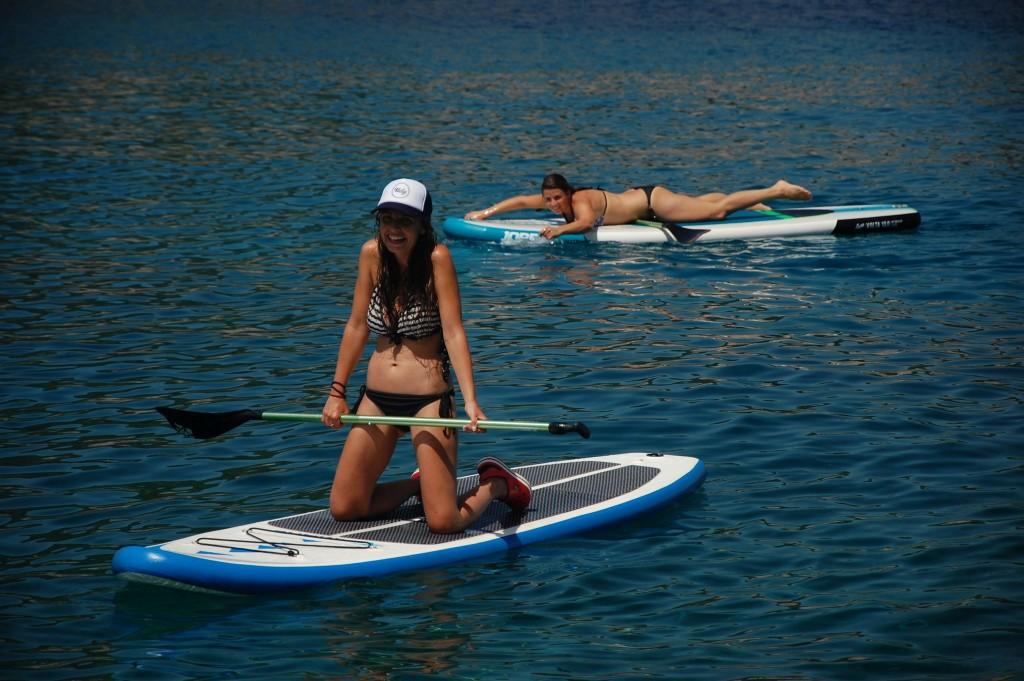moře a paddle board