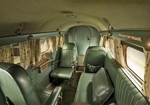 Interiér letadla Beechcraft Model 18