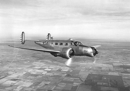 Beechcraft model 18 vyrobený roku 1943