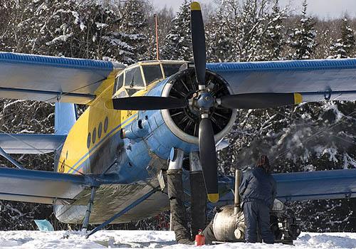 Předehřívání motoru AN-2