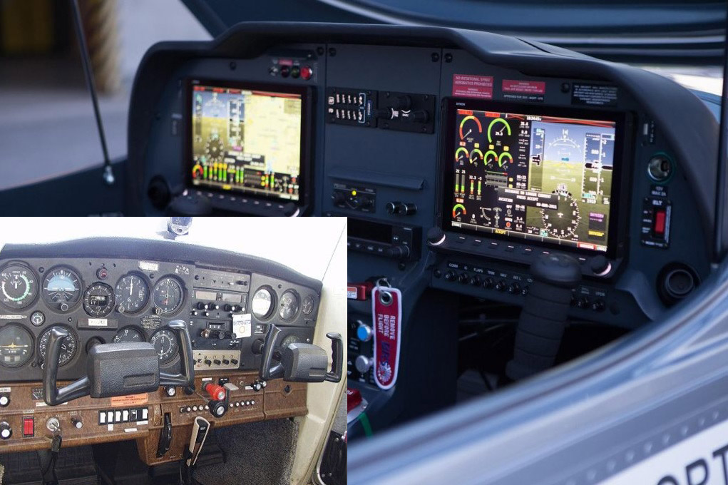 Přístrojová deska Cessna 152 a Cruiser